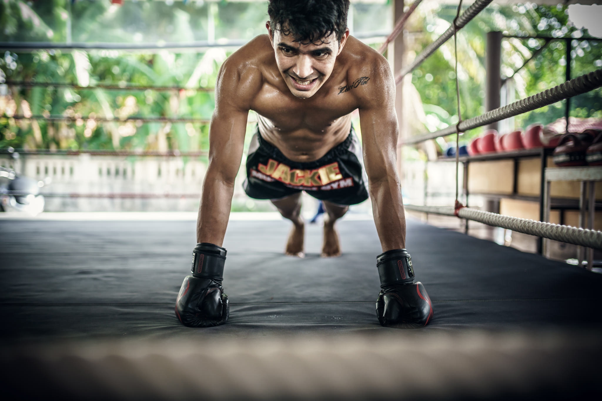 Muay thai training, Sport Photography